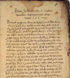 Book of criminal court of town Dobczyce 1699-1737