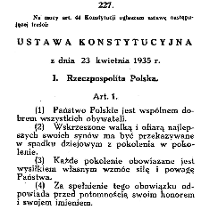 Constitution of Second Republic of Poland (23.04.1921.)