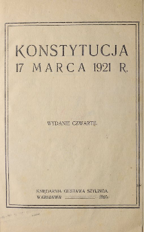 Constitution of Second Republic of Poland (17.03.1921.)