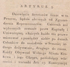 Constitution of Free City of Krakow
