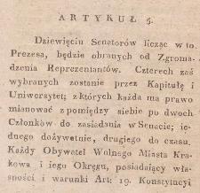 Konstytucja Wolnego Miasta Krakowa i Jego Okręgu z 3 maja 1815 r.