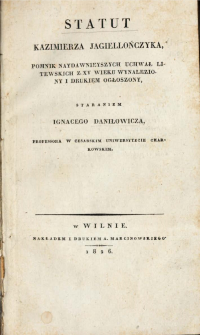 Sudiebnik Kazimierza Jagiellończyka z 1468 r. - wersja oryginalna (ruska)