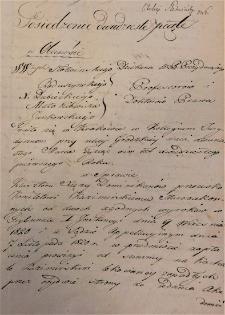 Wyrok Trybunału I Instancji Wolnego Miasta Krakowa w sprawie o separację majątku z 22 XII 1827 r.