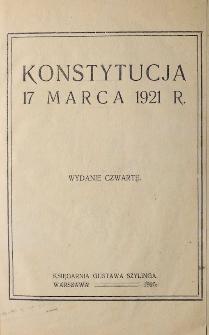 Konstytucje i inne akty ustrojowe XIX i XX w.