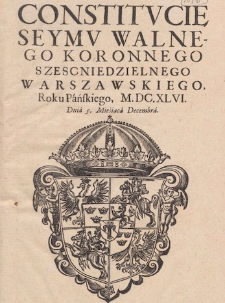Legislation of Polish Sejm 15th-18th C.