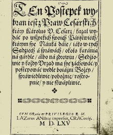 Writings of Polish Lawyers 16th-18th C.