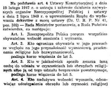 Law on religious denominations in Second republic of Poland and in the Polish People's Republic