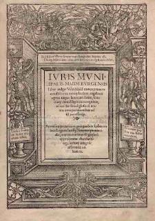 Wydanie Mikołaja Jaskiera (łacińska wulgata Weichbildu magdeburskiego z glosą)