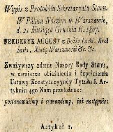 Prawo Księstwa Warszawskiego i Królestwa Polskiego Kongresowego